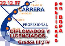 INICIADO EL PLAZO PARA LOS GRADOS III Y IV DE LA CARRERA PROFESIONAL DE LICENCIADOS Y DIPLOMADOS SANITARIOS