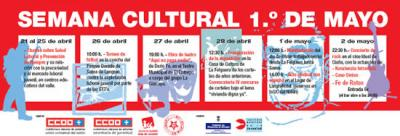 Charlas contra la siniestralidad, fútbol por el empleo digno, teatro reivindicativo, exposiciones y un concierto de rock, en la Semana Cultural 1º de Mayo que organiza CCOO en Langreo
