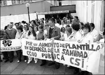 LA NECESIDAD DE MAS PLANTILLA EN EL HOSPITAL DE CABUEÑES