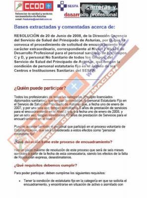 Documento de ayuda para la cumplimentación del Encuadramiento en el Desarrollo Profesional